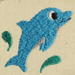 embroidery file Delfin baby