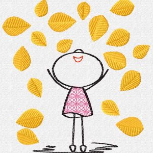 embroidery file Lillys autumn leaves preview