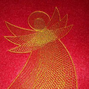 machine embroidery - Angel of Light