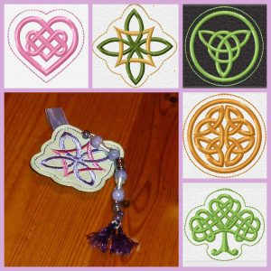 Celtic key fob ITH fivefold Set