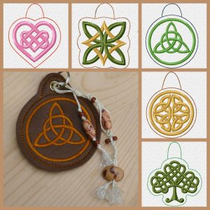 ITH celtic key fob fivefold Set eyelet