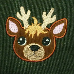 embroidery file Reindeer baby Applique
