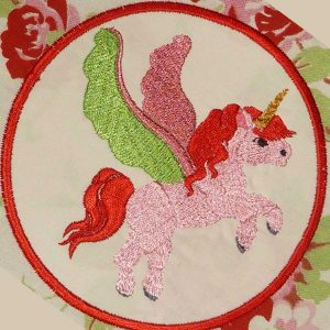 embroidery file unicorn framed