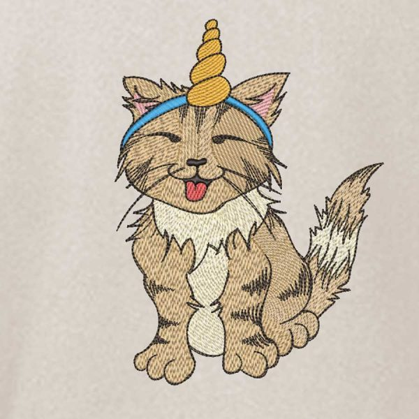 embroidery filde Unicorn cat preview