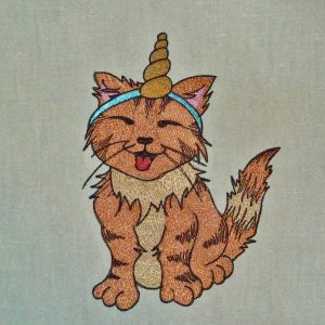 embroidery filde Unicorn cat 1318