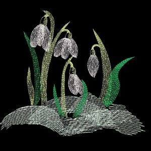 embroidery file Snowdrop 1318
