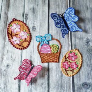 Lace embroidery - Easter set