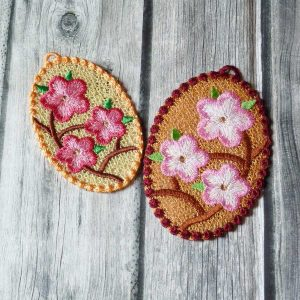 Lace embroidery, easter eggs