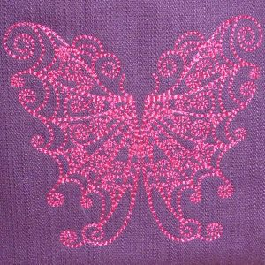 embroidery file Butterfly Redwork