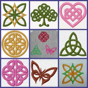 Celtic Knot mini embroidery set