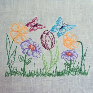embroidery file Spring meadow 1318