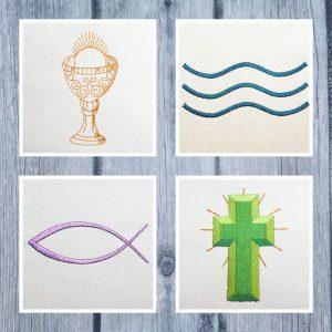 Christian Symbols Set