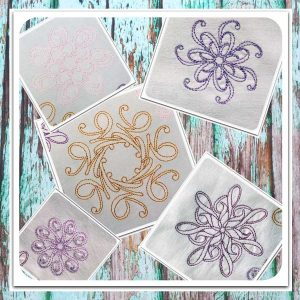 embroidery file Fantasy Flowers doodle Set