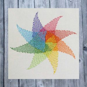 embroidery file Whirligig Star - light stitching