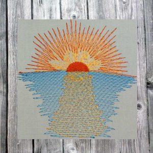 morning sun - machine embroidery