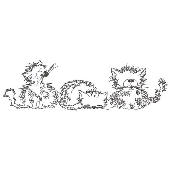 Three Kitten Cartoon 2030