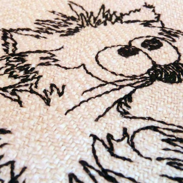 Embroidery design - Three Kitten Cartoon detail 2