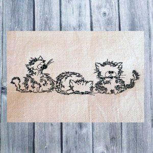 Embroidery design - Three Kitten Cartoon 2030