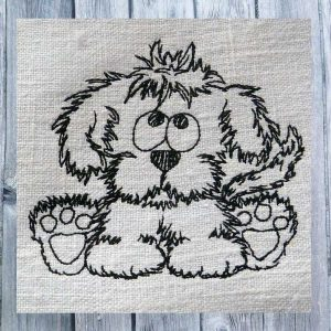 Doodle dog sitting