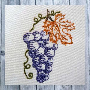 bunches of grapes - Machine embroidery design