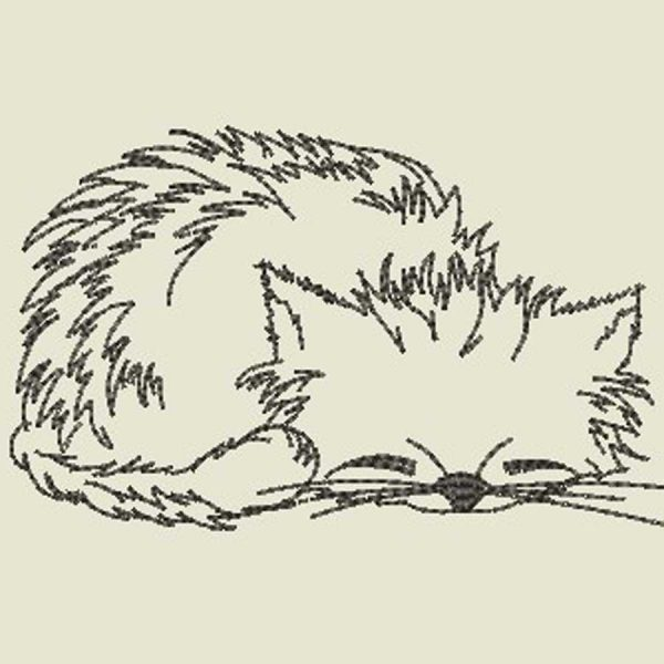 Scribble Cat Sleeping 1010