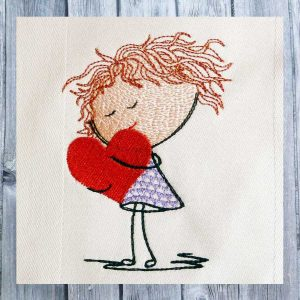 embroidery file Lilly has a big heart