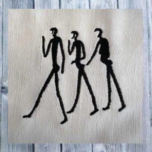 Embroidery design Stoneage Art Namibia