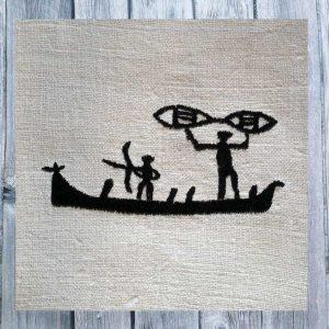 Stoneage Art Fisherman