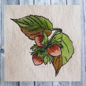 Embroidery file hazelnut