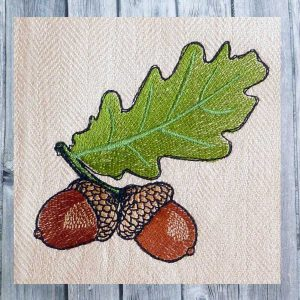 embroidery file acorns