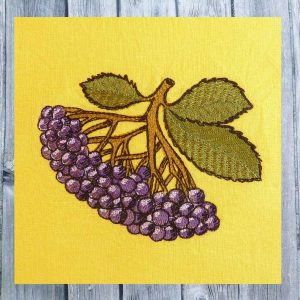 Embroidery file elderberry