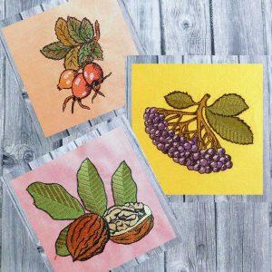 Autumn fruits set 2