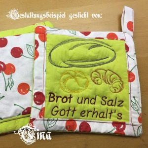 Bread Croissant Set - Machine embroidery