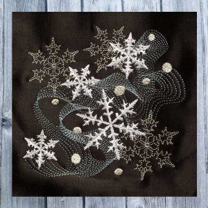 embroidery file Dancing Snowflakes