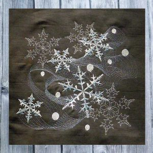 embroidery file Dancing Snowflakes 2030