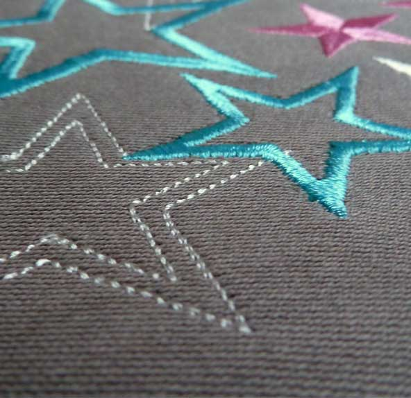 embroidery file christmas Blessing stars detail 3