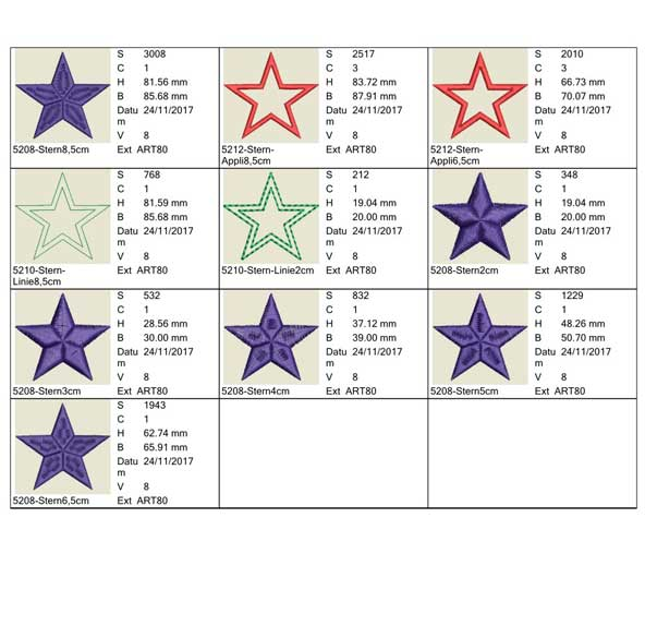 embroidery file christmas Blessing stars preview 2