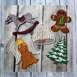 embroidery file Lace Christmas decoration 2