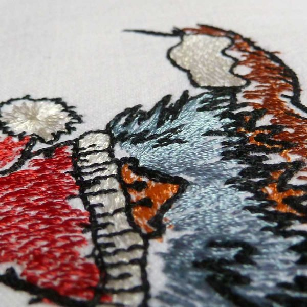 Embroidery file Scribbled Bird Winter 1010 detail 2