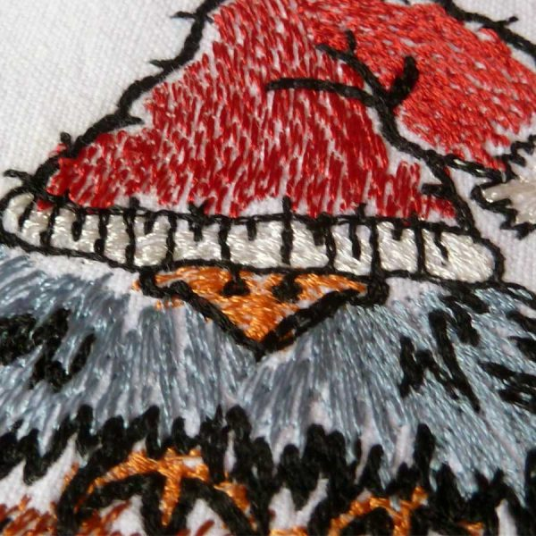 Embroidery file Scribbled Bird Winter 1010 detail 1