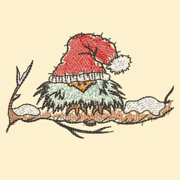 Embroidery file Scribbled Bird Winter 1010 preview