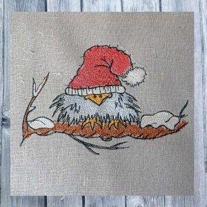 embroidery file Scribbled Bird Winter 1318