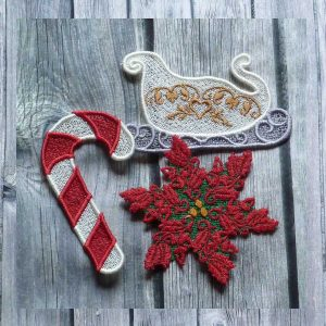 embroidery file Lace Christmas decoration 1