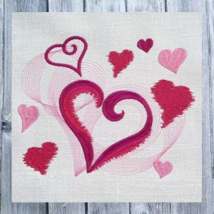 embroidery file Hearts Game 2020