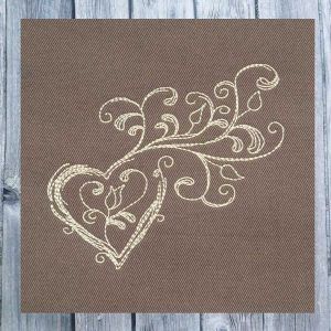embroidery file doodle heart 1010