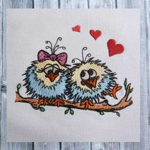 machine embroidery design - birds love