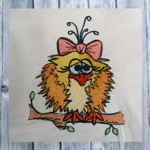 girl bird 1010 - Machine embroidery design