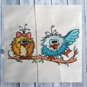 scribble bird set 1010 - Machine embroidery design