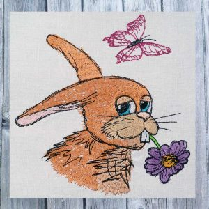 Rabbit Conrad 1318 - machine embroidery design