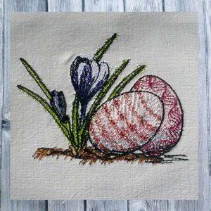 Dutch easter crocus 1010 - machine embroidery design